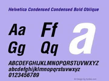 Helvetica Condensed Font,Helvetica Condensed Condensed Bold Oblique