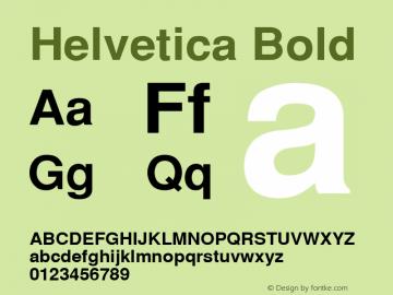 Helvetica Bold 001.004 Font Sample