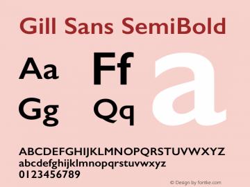 Gill Sans SemiBold 9.0d5e1 Font Sample