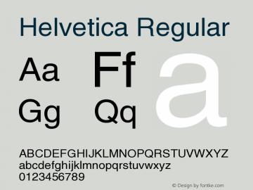 Helvetica Regular OTF 1.0;PS 001.006;Core 116;AOCW 1.0 161 Font Sample