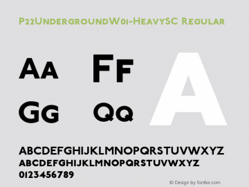 P22UndergroundW01-HeavySC Regular Version 3.00 Font Sample