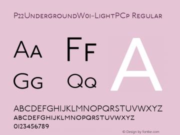 P22UndergroundW01-LightPCp Regular Version 3.00 Font Sample
