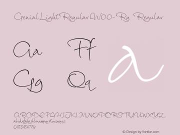 GenialLightRegularW00-Rg Regular Version 1.20图片样张