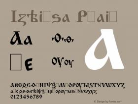 Izhitsa Plain Unknown Font Sample