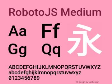 RobotoJS Medium Version 2.00; 2016-09-08 ; ttfautohint (v1.5)图片样张