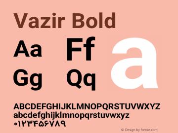Vazir Bold Version 4.1.1 Font Sample