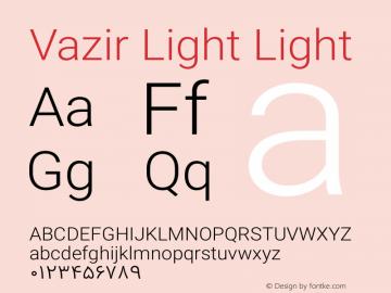 Vazir Light Light Version 4.1.1 Font Sample