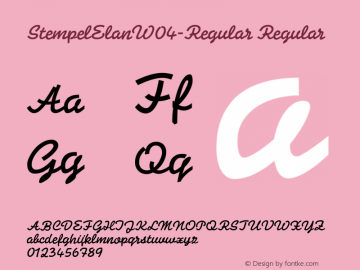 StempelElanW04-Regular Regular Version 1.00 Font Sample