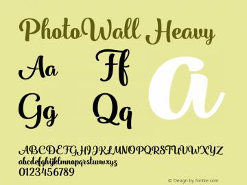 PhotoWall Heavy Version 1.000 Font Sample