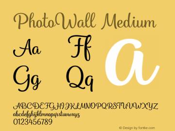 PhotoWall Medium Version 1.000 Font Sample