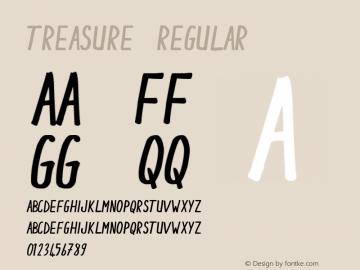 Treasure Regular Unknown Font Sample