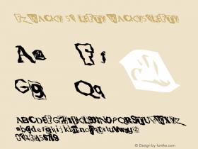 FZ WACKY 51 LEFTY WACKY51LEFTY Version 1.000 Font Sample