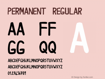 Permanent Regular Unknown Font Sample