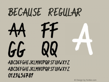 Because Regular Unknown Font Sample