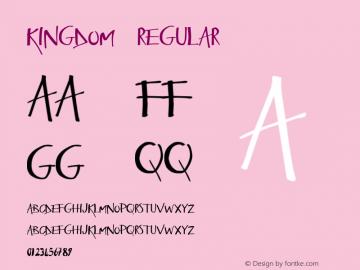 Kingdom Regular Version 1.000;PS 001.001;hotconv 1.0.56 Font Sample