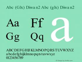 Abc (Glx) Diwan2 Abc (glx) Diwan2 Abc (Glx) Diwan2 Font Sample