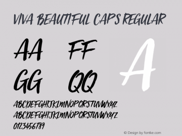 Viva Beautiful Caps Regular Version 1.000 Font Sample