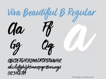 Viva Beautiful B Regular Version 1.000 Font Sample