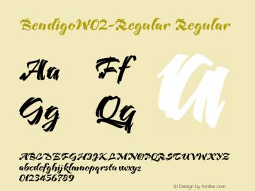 BendigoW02-Regular Regular Version 1.00 Font Sample