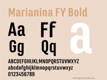 Marianina FY Bold Version 1.000 Font Sample