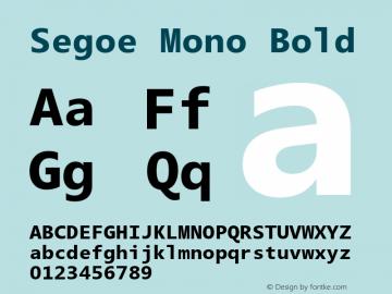 Segoe Mono Bold Version 1.00;com.myfonts.easy.ascender.segoe-mono.bold.wfkit2.version.3T1V Font Sample