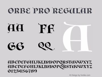 Orbe Pro Regular Version 1.002图片样张