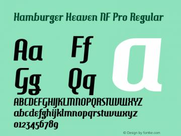 Hamburger Heaven NF Pro Regular Version 11.002;com.myfonts.easy.cheapprofonts.hamburger-heaven-nf-pro.regular.wfkit2.version.3htL Font Sample
