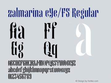 zalmarina eYe/FS Regular Version 1.0图片样张