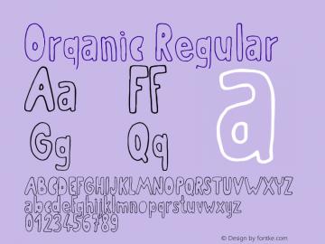 Organic Regular Version 1.00 July 30, 2016图片样张