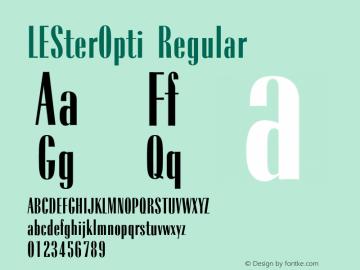 LESterOpti Regular 001.000 Font Sample