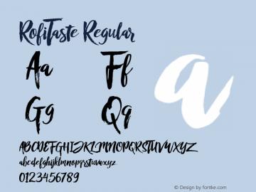 RofiTaste Regular Version 1.000 Font Sample