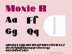 Moxie R Macromedia Fontographer 4.1.5 6/27/04 Font Sample