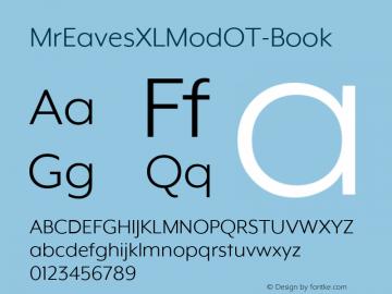 MrEavesXLModOT-Book ☞ Version 1.100;PS 001.100;hotconv 1.0.57;makeotf.lib2.0.21895;com.myfonts.easy.emigre.mr-eaves-xl-modern-opentype.ot-book.wfkit2.version.3FKs图片样张