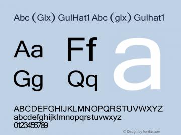 Abc (Glx) GulHat1 Abc (glx) Gulhat1 Version 2.01 2000.7 Font Sample