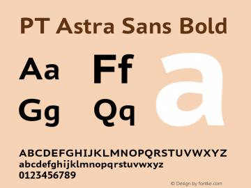 PT Astra Sans Bold Version 1.001 Font Sample