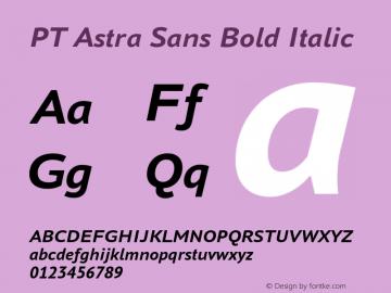 PT Astra Sans Bold Italic Version 1.001 Font Sample