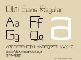 Obti Sans Regular Version 1.0图片样张