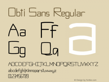 Obti Sans Regular Version 1.0图片样张
