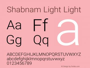Shabnam Light Light Version 1.0.1 Font Sample