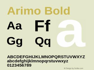 Arimo Bold Version 1.21 Font Sample