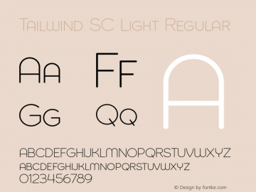 Tailwind SC Light Regular Version 1.000 Font Sample