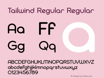 Tailwind Regular Regular Version 1.000 Font Sample