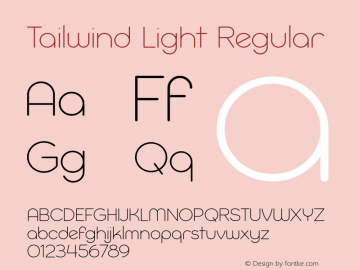 Tailwind Light Regular Version 1.000图片样张