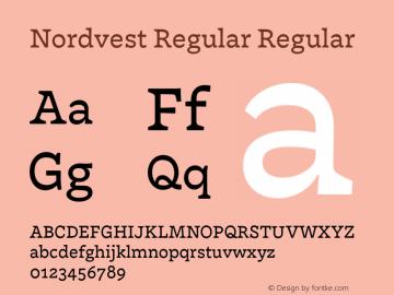 Nordvest Regular Regular Version 1.000;PS 1.000;hotconv 1.0.86;makeotf.lib2.5.63406 Font Sample