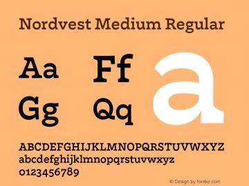 Nordvest Medium Regular Version 1.000;PS 1.000;hotconv 1.0.86;makeotf.lib2.5.63406 Font Sample