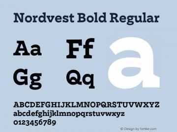 Nordvest Bold Regular Version 1.000;PS 1.000;hotconv 1.0.86;makeotf.lib2.5.63406 Font Sample
