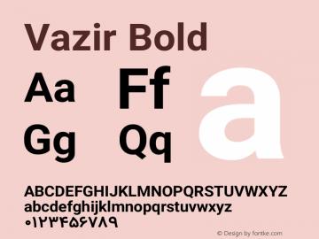 Vazir Bold Version 4.1.2 Font Sample