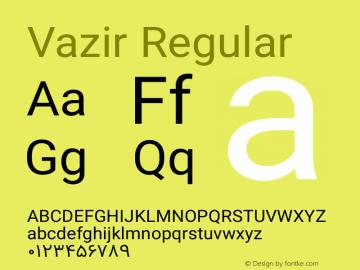 Vazir Regular Version 4.1.2 Font Sample