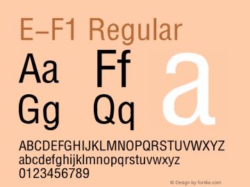 E-F1 Font,E-F1 Regular Font|E-F1 Regular 1995