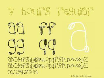 7 hours Regular Revision 1: 9.2.97 Font Sample